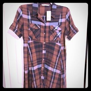 Hippie Laundry Brown/Navy country dress size Lg